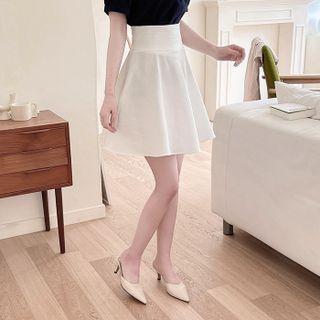 MyFiona - Inset Shorts Textured Flared Skirt