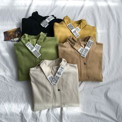 Kazarina - Stand Collar Zip Jacket