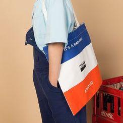 KIITOS - 字母帆布購物袋 (多款設計)