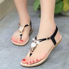 Aneka - Embellished Flip Flops
