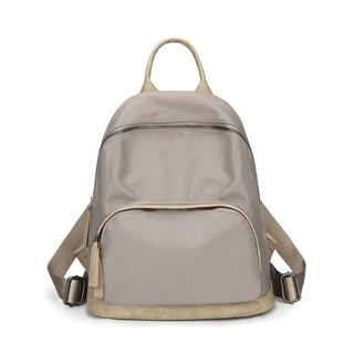 Annmuu - Oxford Panel Zipped Backpack