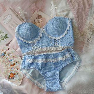 Prinsis - Set: Lace Bra + Panties