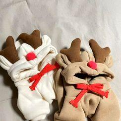 Bixin - 鹿角宠物连衣裤