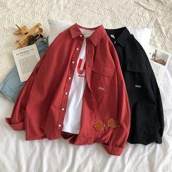 Wescosso  - Plain Long-Sleeve Shirt