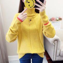 Norte - Turtleneck Color Block Sweater