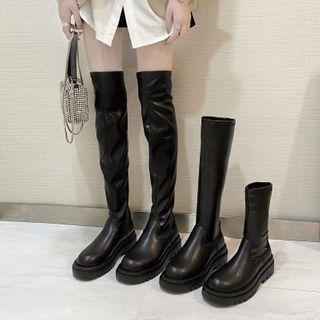 Putcho - Platform Block Heel Boots