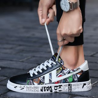 MARTUCCI - Printed Lace-Up Sneakers
