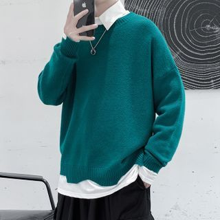 VEAZ - 假兩件寬鬆針織上衣
