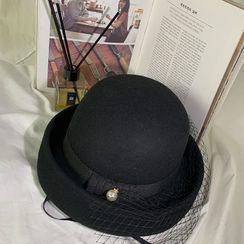 DABAGIRL - Net Veil Bumper Hat