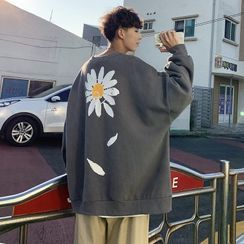 Lazi Boi - Flower Print Sweatshirt