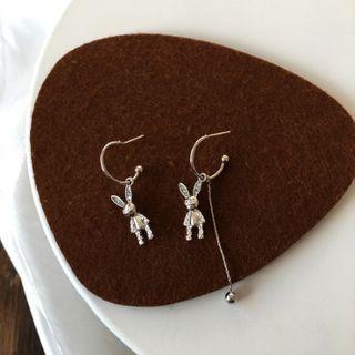 Yambo - Rabbit Asymmetrical Drop Earring