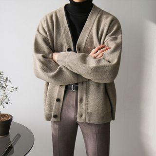 MRCYC - Plain V-Neck Knit Cardigan