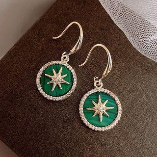 True Glam - Alloy Rhinestone Star Dangle Earring
