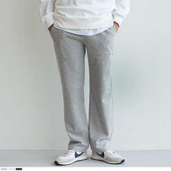 Seoul Homme - Drawstring-Waist Wide-Leg Sweatpants
