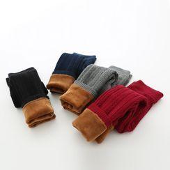 Seashells Kids - Kids Fleece-Lined Cable-Knit Leggings