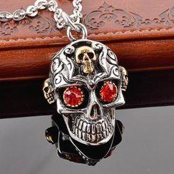 Trend Cool - Rhinestone Skull Necklace