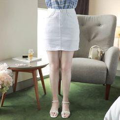 MyFiona - Inset Shorts Slit-Side Miniskirt