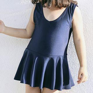 Roseate - Kids Set: Sleeveless Swim Dress + Swim Cap