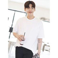 JOGUNSHOP(ジョグンショップ) - Short-Sleeve Colored Cotton T-Shirt