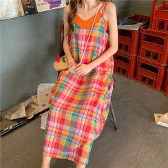 OCTALE - 彩虹條紋吊帶連衣裙+純色裹胸 套裝