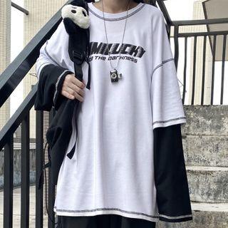 RONIN - Long-Sleeve Mock Two Piece T-Shirt
