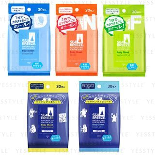 Shiseido - Sea Breeze Body Sheet 30 pcs - 5 Types