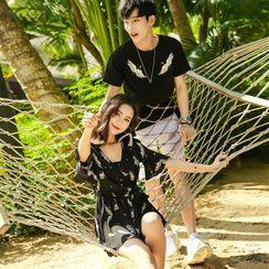 NoonSun - Couple Matching Short-Sleeve T-Shirt / T-Shirt Dress