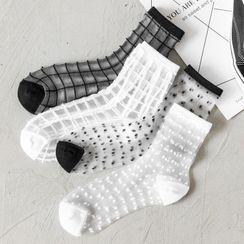 YiFFi - 五件套裝: 薄紗襪子