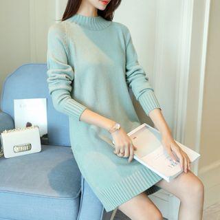 Norte - Mock Neck Long Sleeve Knit Dress