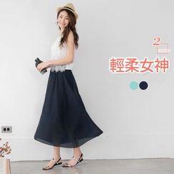 OrangeBear - Mock Two-Piece Maxi Dress