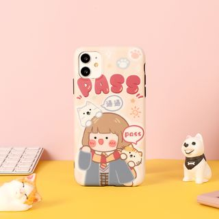 Milk Maid - Exam Girl Print Mobile Case - iPhone 7 / 7 Plus / 8 / 8 Plus / X/ XR / XS / XS MAX / 11 / 11 Pro / 11 Pro Max