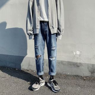Jozev - Rip Straight Fit Jeans