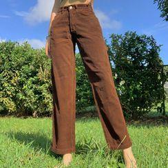 Genrovia - Corduroy Straight Leg Pants