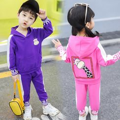 PAM - Kids Set: Giraffe Print Hoodie + Sweatpants