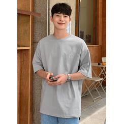 JOGUNSHOP - Letter-Printed T-Shirt