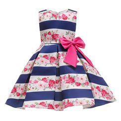 Junon - Kids Printed Sleeveless Party Dress