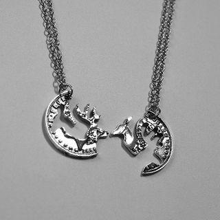Doll Parlour - Set of 2: Deer Pendant Necklace (assorted designs)