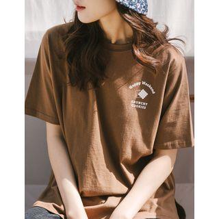 GOROKE - Letter Print T-Shirt