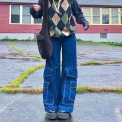 BrickBlack - Wide Leg Cargo Jeans