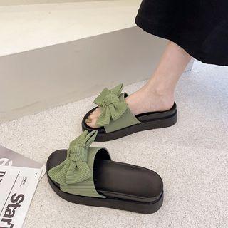 Putcho - Bow-Accent Platform Sandals