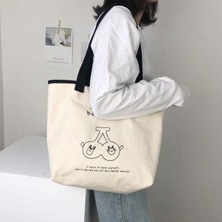 TangTangBags - Cartoon Print Canvas Tote Bag