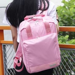 Pagala - Plain Nylon Laptop Backpack