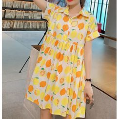 EZ Life - 孕妇短袖水果印花连衣裙