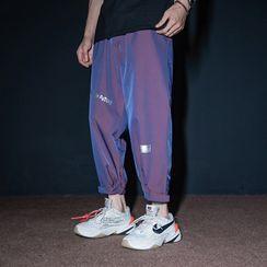 UIXX - Reflective Jogger Pants with Adhesive Tabs