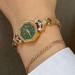 Betsuno - Geometric Alloy Bracelet Watch