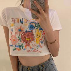 Happy Bird - Couple Matching Short-Sleeve Printed T-Shirt