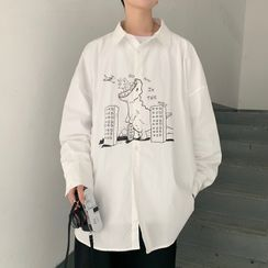 Lazi Boi - 長袖印花襯衫