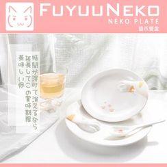 FuyuuNeko - Cat Paw Ceramic Plate / Spoon