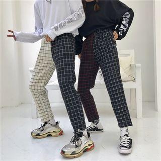 Porstina - Plaid Wide-Leg Pants