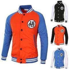 Fireon - Color Block Baseball Jacket